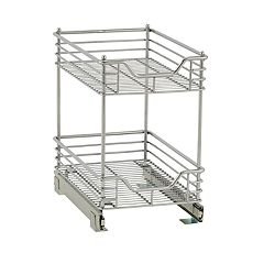 Household Essentials Design Trend Standard Depth 2-Tier 11.5-inch Wide Sliding Under Cabinet Organizer
