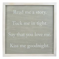 Belle Maison 'Read Me A Story' Wall Decor