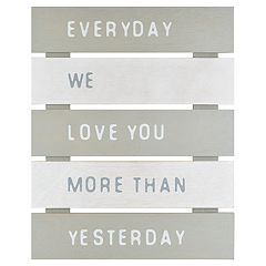 Belle Maison 'Everyday We Love You More' Wall Decor