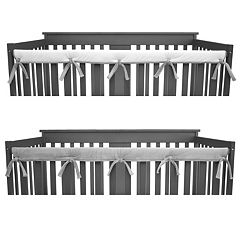 TL Care Heavenly Soft Chenille Reversible Front Crib Rail Cover