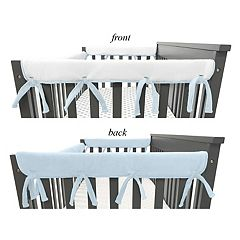 TL Care 2 Piece Heavenly Soft Chenille Reversible Crib Side Rail Cover Set