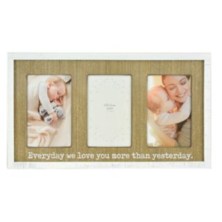 """Belle Maison """"We Love You More"""" 3-Opening 4""""x 6"""" Collage Frame"""