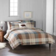 Cuddl Duds Home Blue Plaid 4-piece Flannel Comforter Set