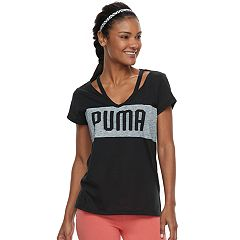 Women's PUMA Spark Strappy Neck Graphic Tee