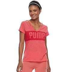 Women's PUMA Spark Strappy Neck Graphic Tee