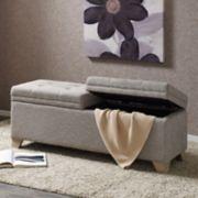 Madison Park Jaxon Upholstered Storage Bench