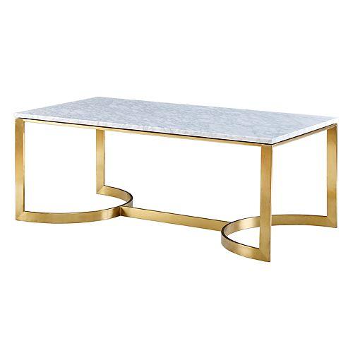 Madison Park Antonio Marble Top Coffee Table