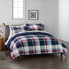 Cuddl Duds Home Red Lodge Plaid Duvet Cover Set