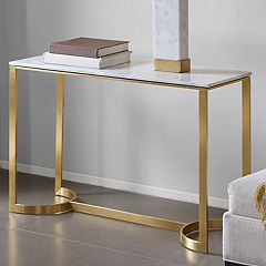 Madison Park Antonio Marble Top Console Table