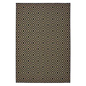 StyleHaven Mainland Diamond Panel Geometric Indoor Outdoor Rug