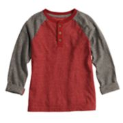 Boys 4-12 SONOMA Goods for Life? Roll Tab Raglan Henley Top