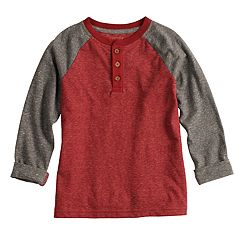 Boys 4-12 SONOMA Goods for Life™ Roll Tab Raglan Henley Top