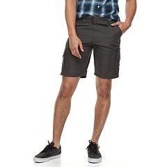 Men's Burnside MIcrofiber Belted Cargo Shorts