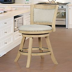 Linon Sydnee Natural Finish Counter Stool