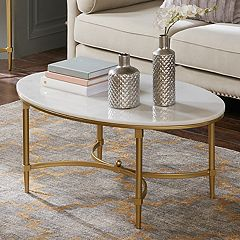 Madison Park Signature Faux Marble Coffee Table