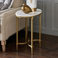 Madison Park Signature Faux Marble End table