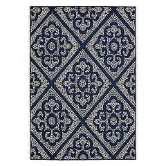 StyleHaven Mainland Medallion Panel Indoor Outdoor Rug