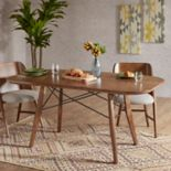 INK+IVY Clark Wood Finish Dining table