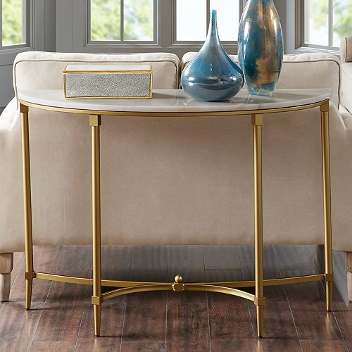 Phenomenal Madison Park Signature Faux Marble Console Table Ncnpc Chair Design For Home Ncnpcorg