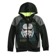 Boys 4-8 Star Wars a Collection for Kohl's Stormtrooper Glow in the Dark Zip Hoodie