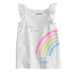 Baby Girl Jumping Beans® Foiled Rainbow Graphic Tank Top