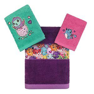 Hatchimals Hatch-Topia 3-piece Bath Towel Set