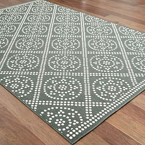 StyleHaven Mainland Lattice Geometric Indoor Outdoor Rug