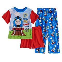 Todler Boy Thomas the Train Top, Shorts & Pants Pajama Set