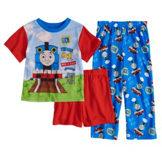 Todler Boy Thomas the Train Top, Shorts & Pants Pajama Set