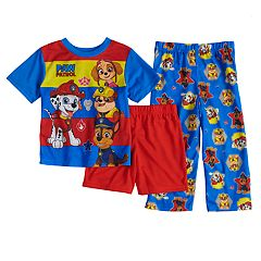 Toddler Boy Paw Patrol Marshall, Skye, Rubble & Chase Top, Shorts & Pants Pajama Set