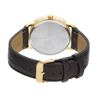 Sutton by Armitron Men's Leather Watch - SU/5001BKGP