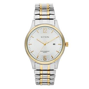 Sutton by Armitron Men's Two Tone Stainless Steel Expansion Watch - SU/5007SVTT