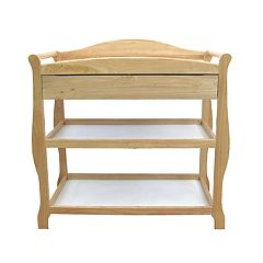 LA Baby 2 Shelf Wood Changing Table