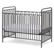 LA Baby Trinity 3-in-1 Convertible Full Sized Metal Crib