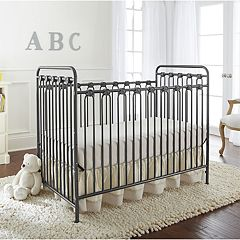 LA Baby Napa 3-in-1 Convertible Full Sized Metal Crib