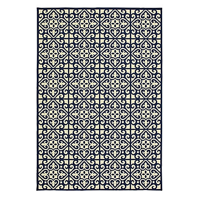 StyleHaven Mainland Ornate Tiles Indoor Outdoor Rug