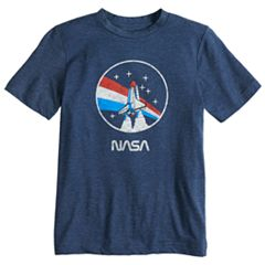 Boys 8-20 NASA Red, White & Blue Skies Tee