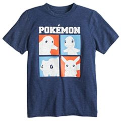 Boys 8-20 Pokémon Red, White & Blue Tee