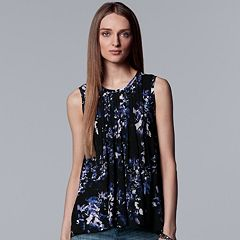 Women's Simply Vera Vera Wang Pintuck Swing Tank