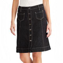 Petite Chaps Denim Skirt