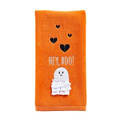 Celebrate Halloween Together  Hey Boo Hand Towel