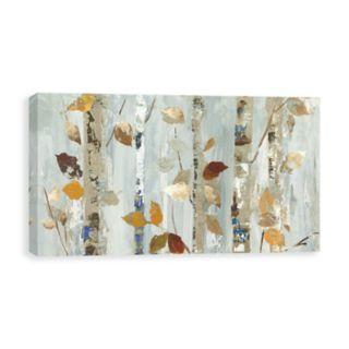 Artissimo Designs Leaves On Birch Canvas Wall Art