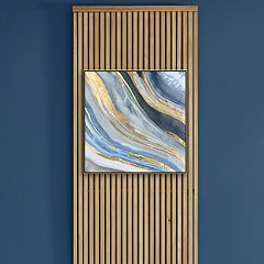 Artissimo Designs Agate II Framed Canvas Wall Art