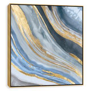 Artissimo Designs Agate II Framed Canvas Wall Art