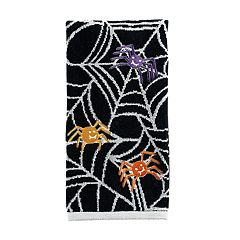 Celebrate Halloween Together  Glowing Spiders Hand Towel