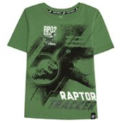 "Boys 4-7x Jurassic World: Fallen Kingdom ""Raptor Tracker"" Patch Graphic Tee"