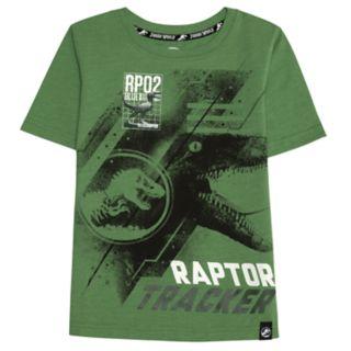 "Boys 4-7x Jurassic World: Fallen Kingdom ""Raptor Tracker"" Patch Graphic Tee"
