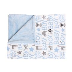 Thro Cory Safari Print Fleece Baby Throw