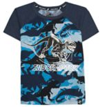 "Boys 4-7x Jurassic World: Fallen Kingdom ""Indoraptor"" Foiled Dinosaur Camo Graphic Tee"