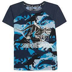 Boys 4-7x Jurassic World: Fallen Kingdom 'Indoraptor' Foiled Dinosaur Camo Graphic Tee
